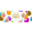 easter greeting multicolored eggs vector image vector image