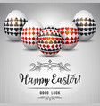 easter greetings card with red and black gambling vector image