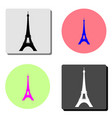 eiffel tower in paris flat icon vector image vector image
