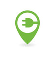 electric car charge station map pin vector image