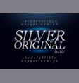 elegant silver colored metal chrome alphabet