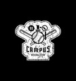 emblem campus baseball team vector image