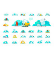 emoji sticker big set character icon cute man vector image