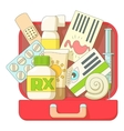 First aid kit icons set flat style vector image