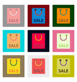 flat assembly icons of package sale vector image vector image