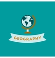 flat icon on background geography lesson vector image vector image