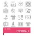 Football icon set vector image vector image
