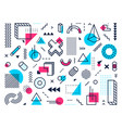 geometric shapes abstract memphis style points vector image vector image