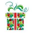 gift box made of christmas balls vector image
