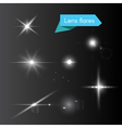Glowing white flash elements vector image vector image
