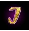 golden and pink letter i vector image vector image