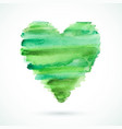 green-heart vector image vector image