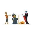 halloween characters - modern isolated vector image