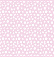hand drawn polka dot seamless pattern isolated on vector image