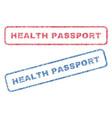 health passport textile stamps vector image vector image