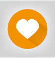 heart icon in flat design on grey background vector image