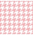 Houndstooth seamless pastel pink and white pattern vector image vector image