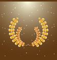 imagination laurel wreath on brown background vector image vector image