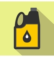 Jerrycan oil flat icon vector image vector image