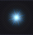 magic blue light effect glowing flare with shiny vector image
