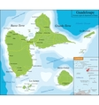 Map of Guadeloupe vector image