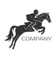 modern horse with rider logo vector image