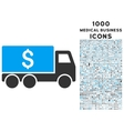 Money Delivery Icon with 1000 Medical Business vector image vector image