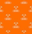 old axe pattern orange vector image vector image
