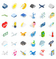 rest icons set isometric style vector image