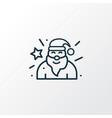santa claus icon line symbol premium quality vector image