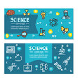 science research horizontal banners posters vector image vector image
