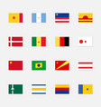 set flags fictional countries vector image