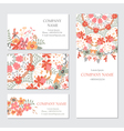 Set of business or invitation cards template vector image vector image