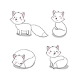 Set of cute little fox vector image vector image