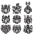 set of heraldic silhouettes No2 vector image vector image