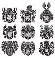 set of heraldic silhouettes No2 vector image vector image
