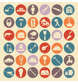 Set of house repair tools icons vector image