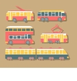 Set of Urban Transport vector image vector image