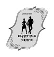Signboard of clothing store for men and women vector image vector image