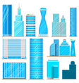 skyscraper high buildings tower office city vector image vector image