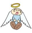 sleeping angel vector image vector image