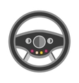 Sport car rudder wheel vector image vector image