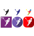 Sport icons for lacrosse vector image