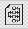 tactical plan document icon on isolated vector image