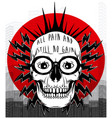 tee graphic skull poster vector image vector image