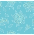Tender and graceful seamless pattern with hand vector image vector image