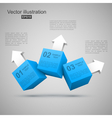 Three blue boxes with arrows 3d vector | Price: 1 Credit (USD $1)
