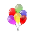 Transparent balloons Multicolored balloons vector image