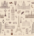 Travel seamless pattern europe vacation wallpaper