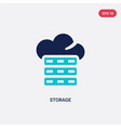 two color storage icon from big data concept vector image vector image